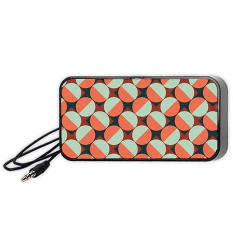 Modernist Geometric Tiles Portable Speaker (Black)