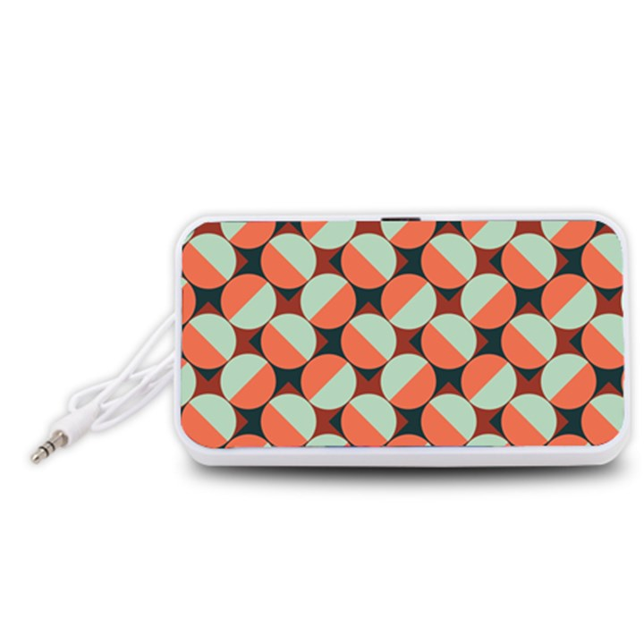 Modernist Geometric Tiles Portable Speaker (White)