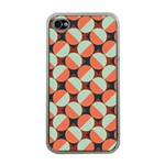 Modernist Geometric Tiles Apple iPhone 4 Case (Clear) Front