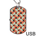 Modernist Geometric Tiles Dog Tag USB Flash (Two Sides)  Back