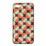 Modernist Geometric Tiles Apple iPhone 4/4s Seamless Case (Black) Front