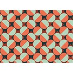 Modernist Geometric Tiles Ribbon 3D Greeting Card (7x5) Front