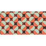 Modernist Geometric Tiles SORRY 3D Greeting Card (8x4) Back