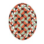 Modernist Geometric Tiles Oval Filigree Ornament (2-Side)  Front