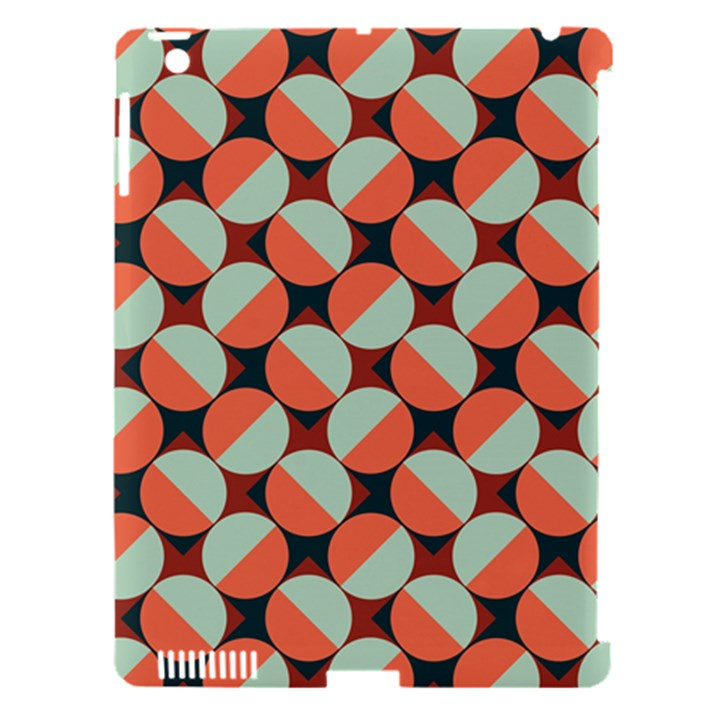 Modernist Geometric Tiles Apple iPad 3/4 Hardshell Case (Compatible with Smart Cover)