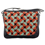 Modernist Geometric Tiles Messenger Bags Front