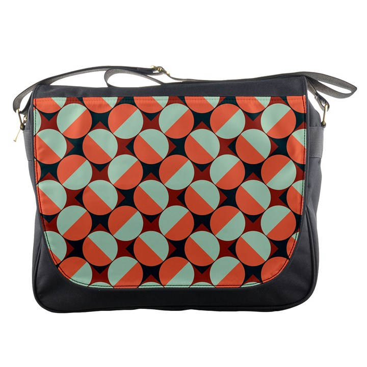 Modernist Geometric Tiles Messenger Bags