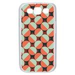 Modernist Geometric Tiles Samsung Galaxy S III Case (White) Front