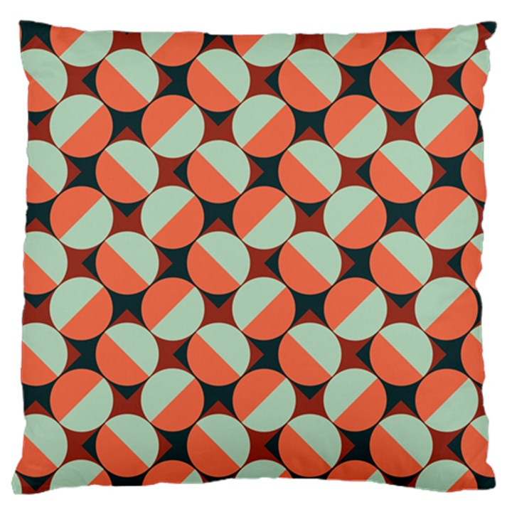 Modernist Geometric Tiles Large Cushion Case (One Side)