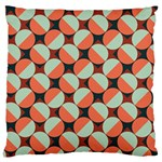 Modernist Geometric Tiles Large Cushion Case (Two Sides) Back