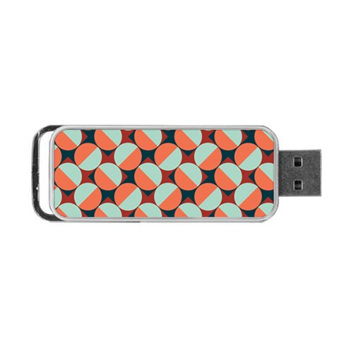 Modernist Geometric Tiles Portable USB Flash (One Side)
