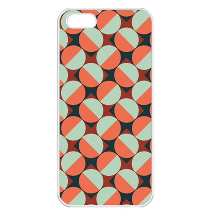 Modernist Geometric Tiles Apple iPhone 5 Seamless Case (White)