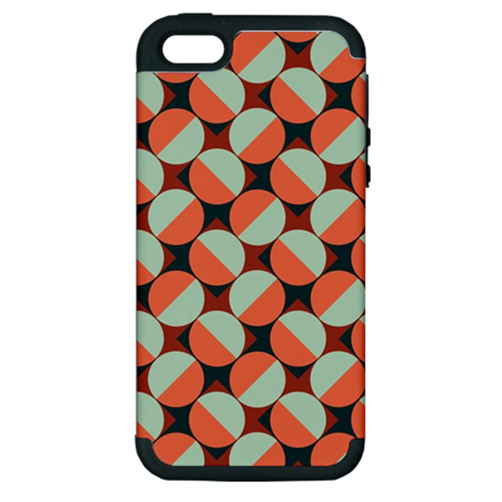 Modernist Geometric Tiles Apple iPhone 5 Hardshell Case (PC+Silicone)