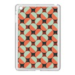Modernist Geometric Tiles Apple iPad Mini Case (White) Front