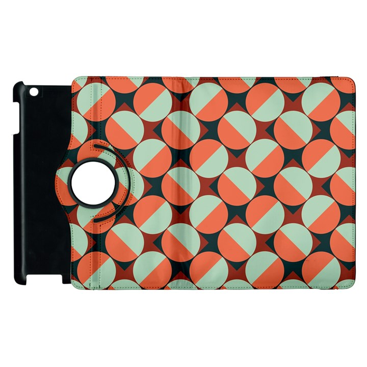 Modernist Geometric Tiles Apple iPad 2 Flip 360 Case