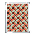 Modernist Geometric Tiles Apple iPad 3/4 Case (White) Front
