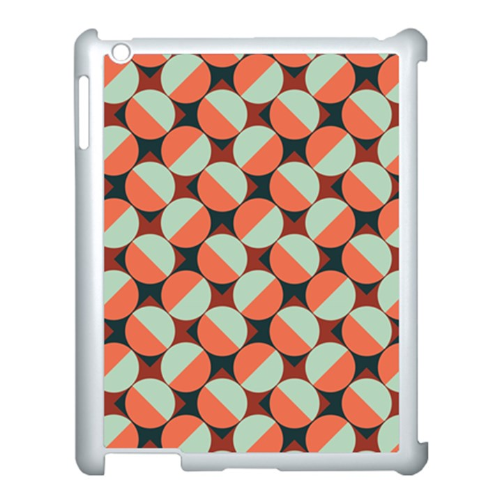Modernist Geometric Tiles Apple iPad 3/4 Case (White)