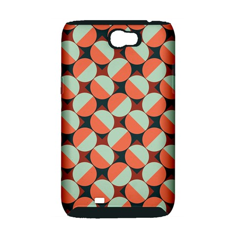 Modernist Geometric Tiles Samsung Galaxy Note 2 Hardshell Case (PC+Silicone)