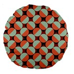 Modernist Geometric Tiles Large 18  Premium Round Cushions Front