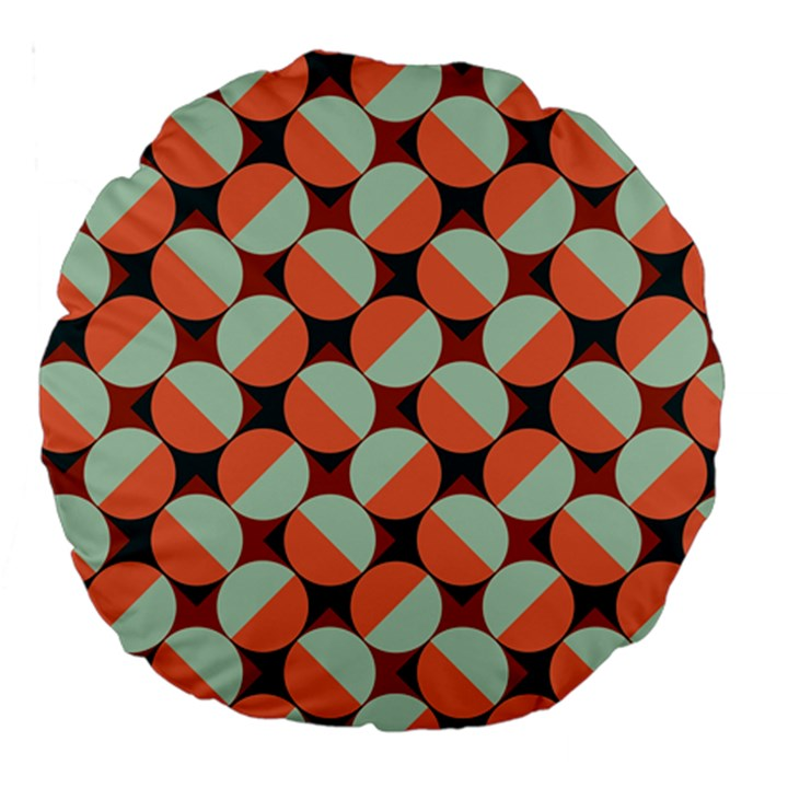 Modernist Geometric Tiles Large 18  Premium Round Cushions