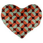 Modernist Geometric Tiles Large 19  Premium Heart Shape Cushions Front