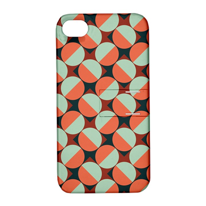Modernist Geometric Tiles Apple iPhone 4/4S Hardshell Case with Stand