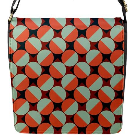 Modernist Geometric Tiles Flap Messenger Bag (S)