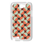 Modernist Geometric Tiles Samsung Galaxy Note 2 Case (White) Front