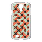 Modernist Geometric Tiles Samsung GALAXY S4 I9500/ I9505 Case (White) Front