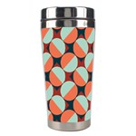 Modernist Geometric Tiles Stainless Steel Travel Tumblers Center