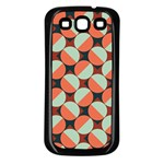 Modernist Geometric Tiles Samsung Galaxy S3 Back Case (Black) Front
