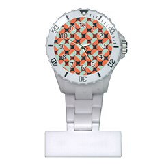 Modernist Geometric Tiles Plastic Nurses Watch