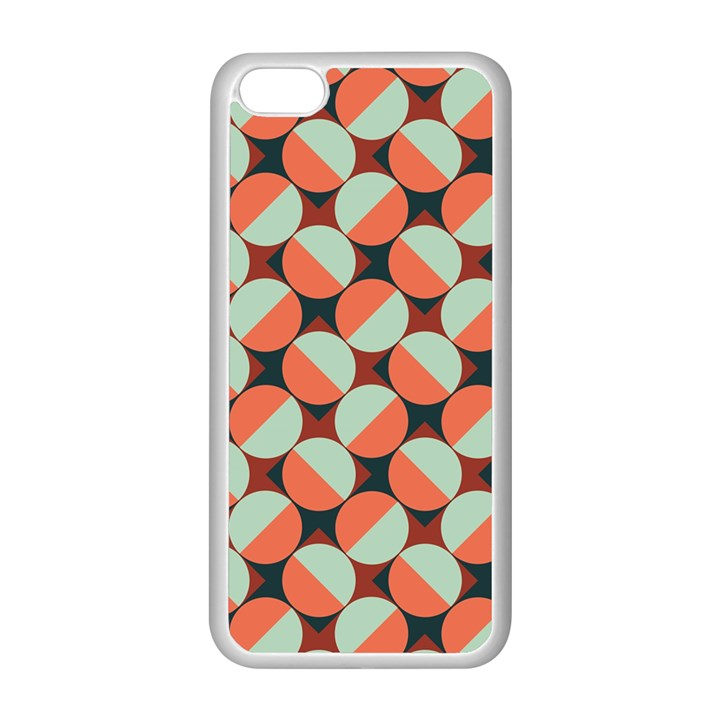 Modernist Geometric Tiles Apple iPhone 5C Seamless Case (White)