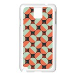 Modernist Geometric Tiles Samsung Galaxy Note 3 N9005 Case (White) Front