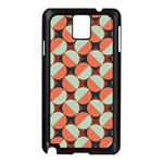 Modernist Geometric Tiles Samsung Galaxy Note 3 N9005 Case (Black) Front