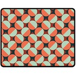 Modernist Geometric Tiles Double Sided Fleece Blanket (Medium)  60 x50 Blanket Back