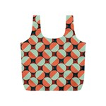 Modernist Geometric Tiles Full Print Recycle Bags (S)  Front