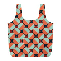 Modernist Geometric Tiles Full Print Recycle Bags (L)