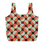 Modernist Geometric Tiles Full Print Recycle Bags (L)  Back