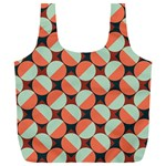 Modernist Geometric Tiles Full Print Recycle Bags (L)  Front