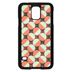 Modernist Geometric Tiles Samsung Galaxy S5 Case (Black) Front