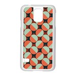Modernist Geometric Tiles Samsung Galaxy S5 Case (White) Front