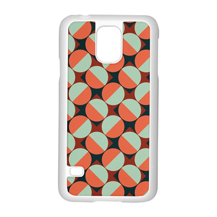 Modernist Geometric Tiles Samsung Galaxy S5 Case (White)