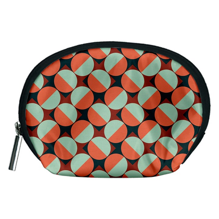 Modernist Geometric Tiles Accessory Pouches (Medium)