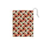Modernist Geometric Tiles Drawstring Pouches (Small)  Front