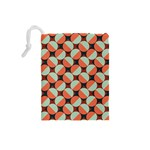 Modernist Geometric Tiles Drawstring Pouches (Small)  Back