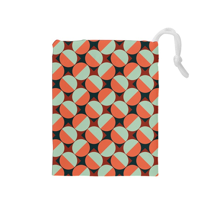 Modernist Geometric Tiles Drawstring Pouches (Medium)