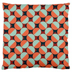 Modernist Geometric Tiles Large Flano Cushion Case (One Side)