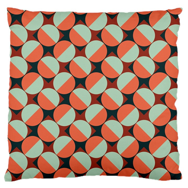 Modernist Geometric Tiles Large Flano Cushion Case (Two Sides)