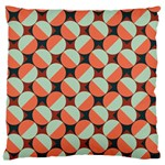 Modernist Geometric Tiles Large Flano Cushion Case (Two Sides) Back